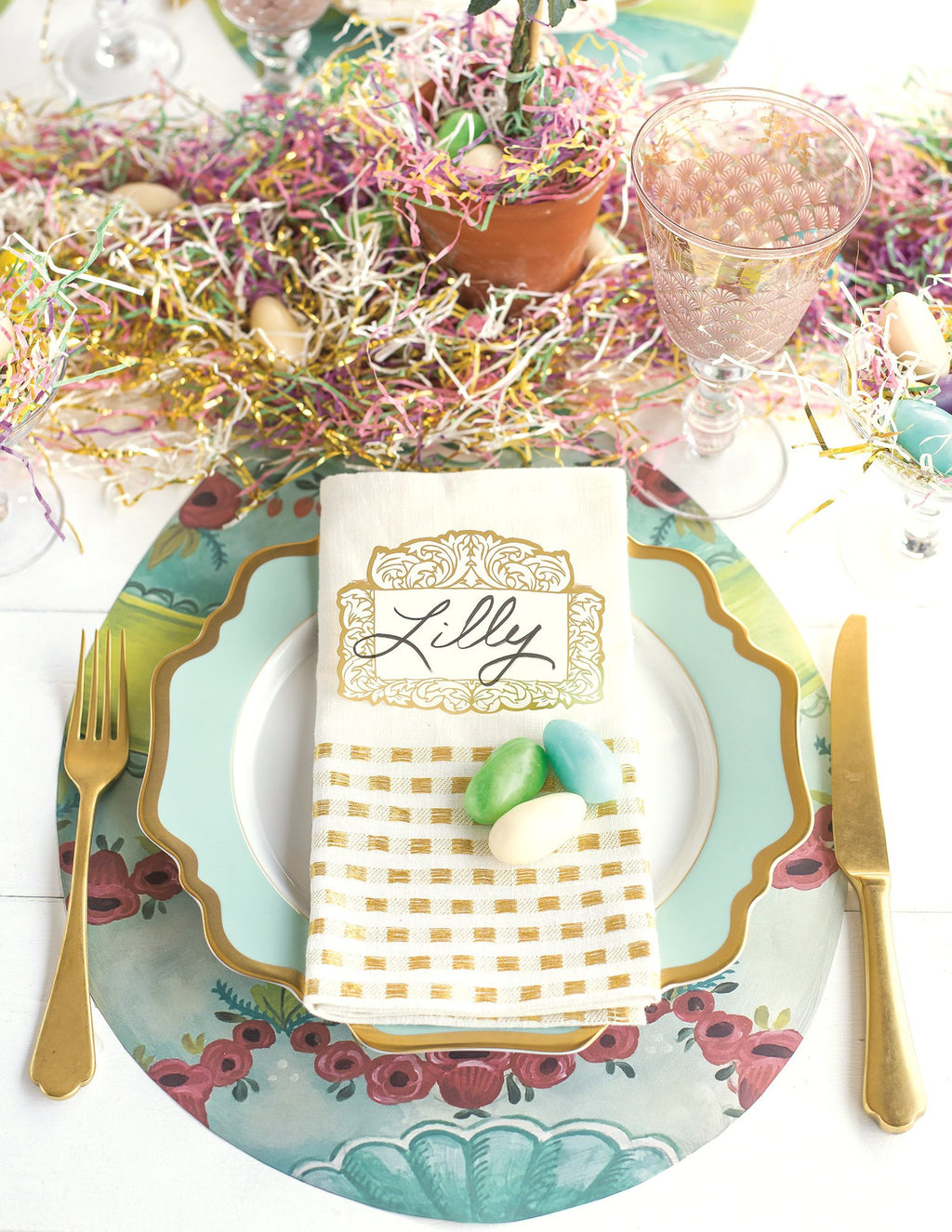 Die Cut Easter Egg Placemat