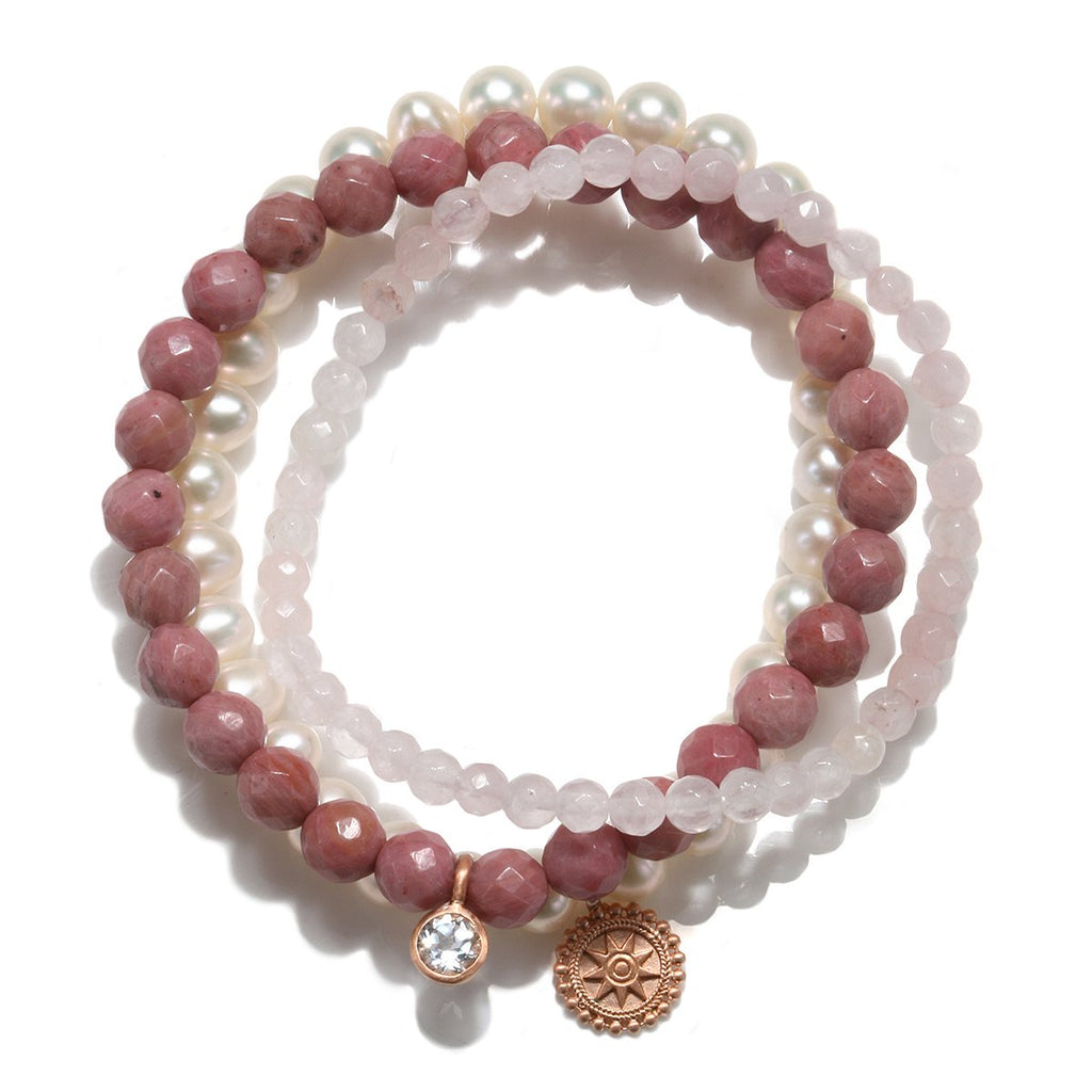 Mandala Rose Gold Bracelet Set