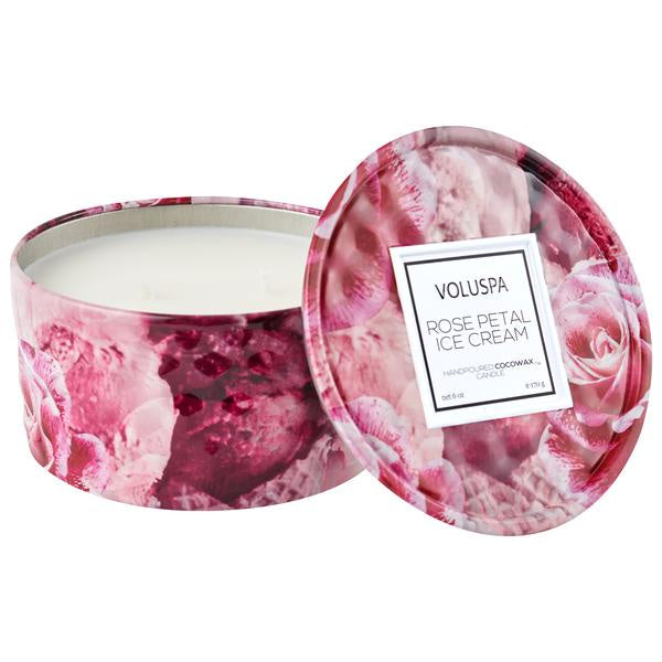 Rose Petal Ice Cream Mini Tin Candle