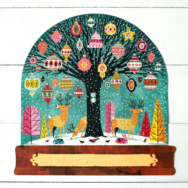 Die Cut Snow Globe Placemat