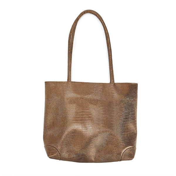 Bronze Python Vegan Leather Bag