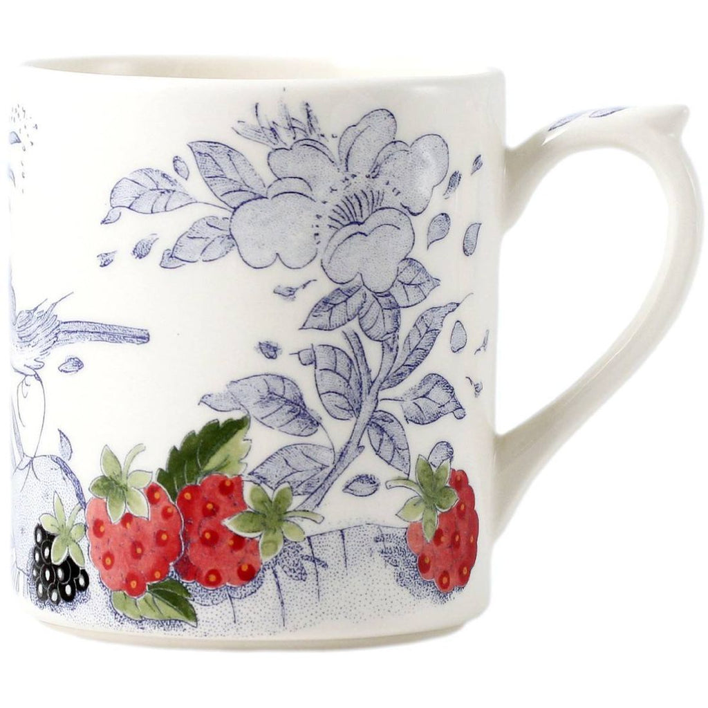 Gien Fruits and Blue Pattern Mug