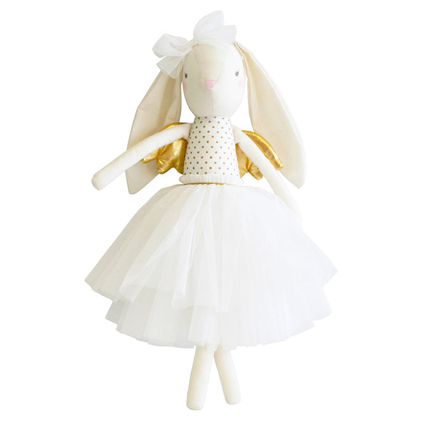 Alimrose Angel Bunny with Gold Wings 20 in.