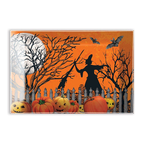 Trick or Treat Glass Candy Dish