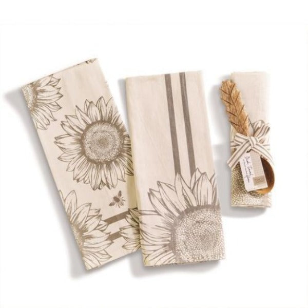 Sunflower Dish Towel & Spoon A/2