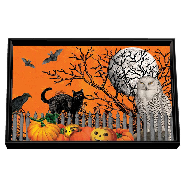 Trick or Treat Decoupage Wooden Vanity Tray
