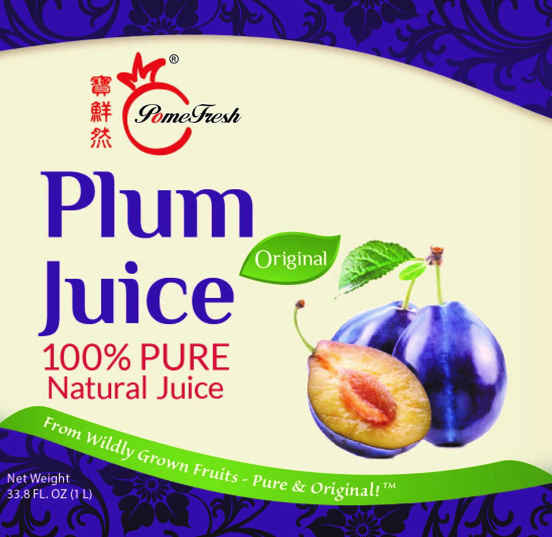 有機李子汁1升裝 PomeFresh 100% Organic Plum Juice 1L