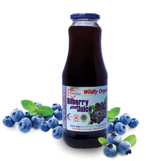 有機越橘汁1升裝 PomeFresh 100% Organic Bilberry Juice 1L