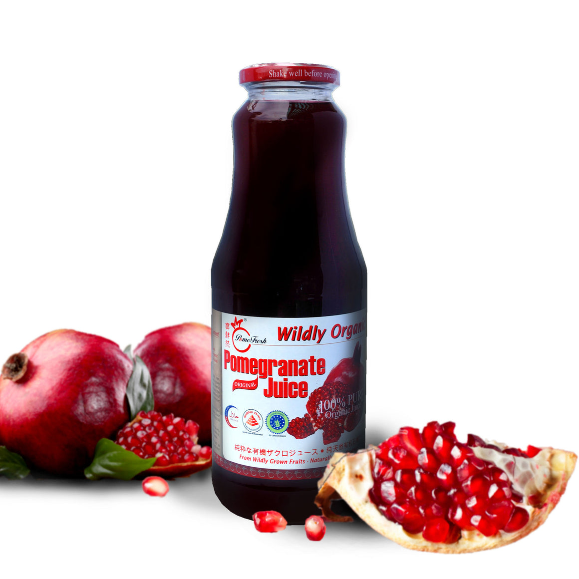有機石榴汁1升裝 PomeFresh 100% Organic Pomegranate Juice 1L