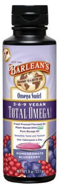 Total Omega Vegan Omega Swirl Pomegranate Blueberry Flavor 8oz