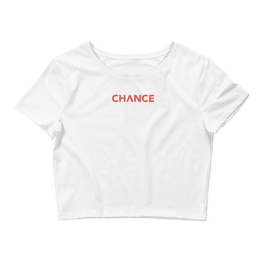 Chance Crop Tee - White