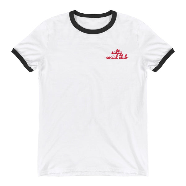 Salty Social Club Ringer T-Shirt - White