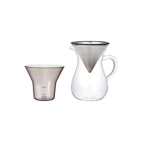 Kinto SCS Coffee Carafe Set 300ml (Stainless steel)