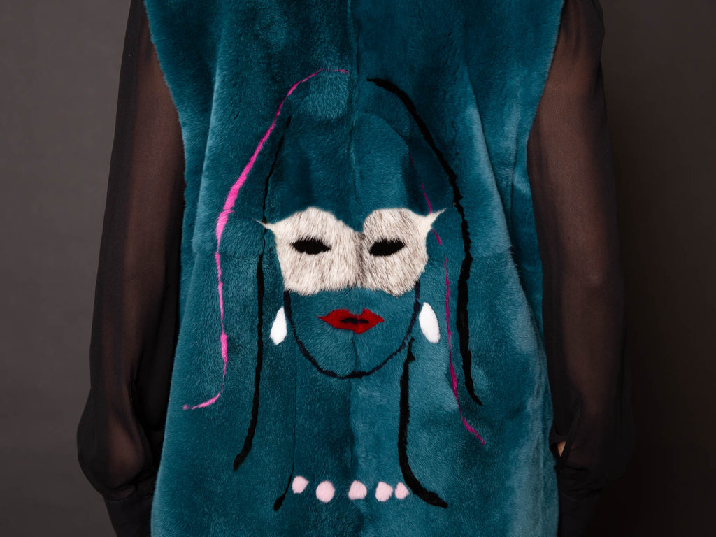 DANIELA VEZZA GILET REX THE MASK