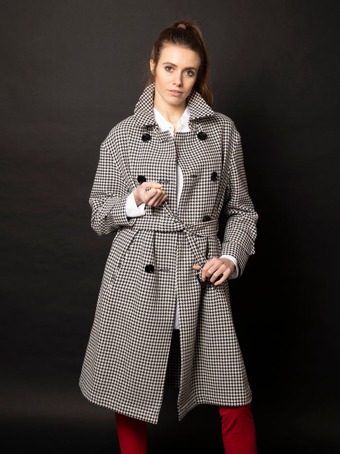 HERNO TRENCH PIED DE POULE