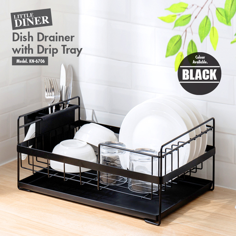 Lil Diners - Dish Drainer with Drip Tray (Black)