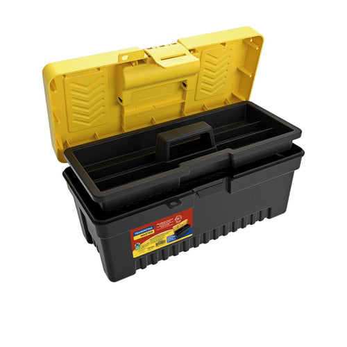 17 Inch Plastic Tool Box with Plastic Tray Removable - HOUZE - The Homeware Superstore
