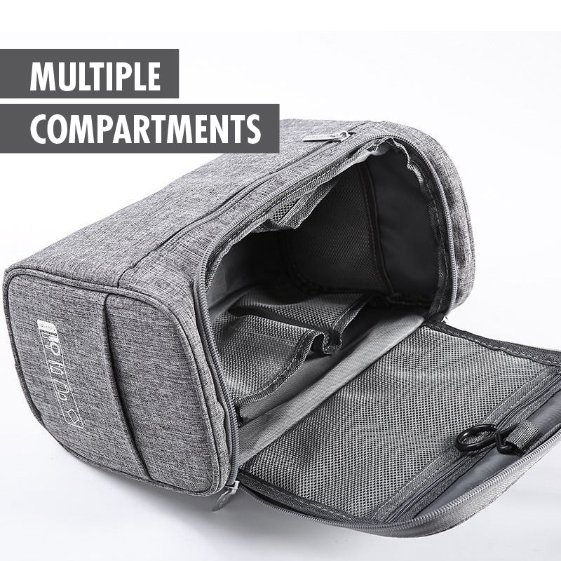 HOUZE - Clustered Travel Toiletries Bag (Grey) - HOUZE - The Homeware Superstore