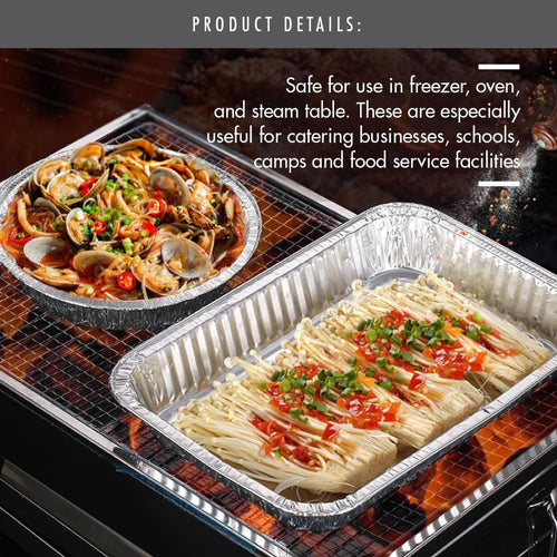 Medium Aluminium Foil Tray with Lid - 322x266x63mm - HOUZE - The Homeware Superstore