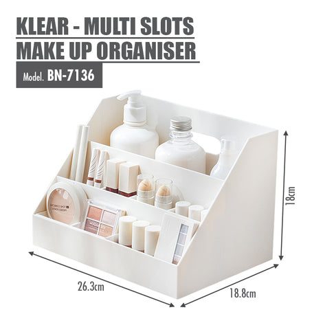 KLEAR - Multi Slots Make Up Organiser - HOUZE - The Homeware Superstore