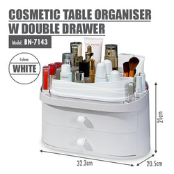 HOUZE - Cosmetic Table Organiser with Double Drawer - HOUZE - The Homeware Superstore