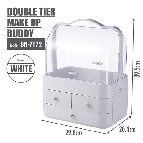 [BUY 1 FREE 1] Make Up Buddy (Double Tier) - HOUZE - The Homeware Superstore