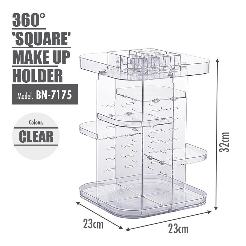 [BUY 1 FREE 1] 360 Degree 'SQUARE' Make Up Holder - HOUZE - The Homeware Superstore