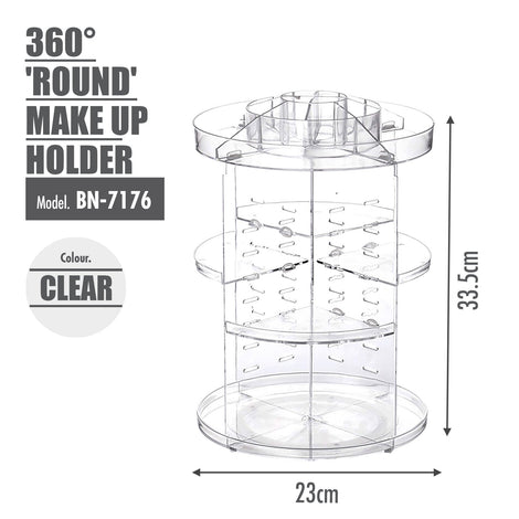 [BUY 1 FREE 1] 360 Degree 'ROUND' Make Up Holder - HOUZE - The Homeware Superstore