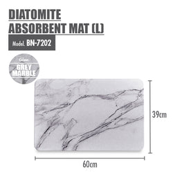 HOUZE - Diatomite Absorbent Mat (Large) - Grey Marble - HOUZE - The Homeware Superstore