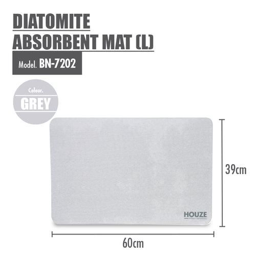 HOUZE - Diatomite Absorbent Mat (Large) - Grey - HOUZE - The Homeware Superstore