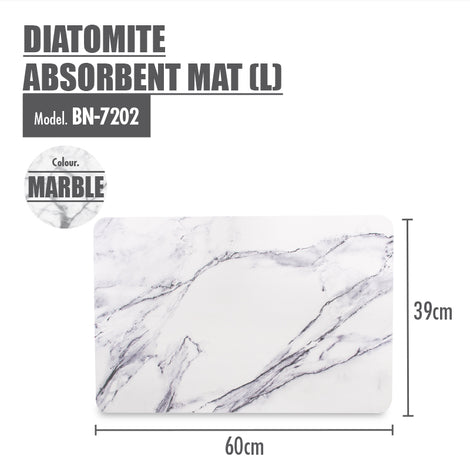 HOUZE - Diatomite Absorbent Mat (Large) - Marble - HOUZE - The Homeware Superstore