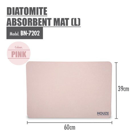 HOUZE - Diatomite Absorbent Mat (Large) - Pink - HOUZE - The Homeware Superstore