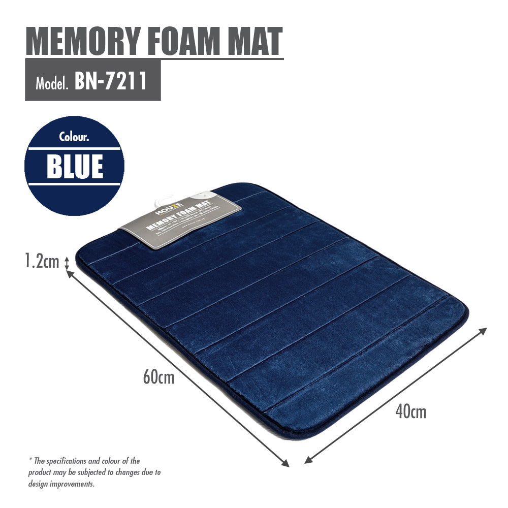 HOUZE - Memory Foam Mat - Blue - HOUZE - The Homeware Superstore