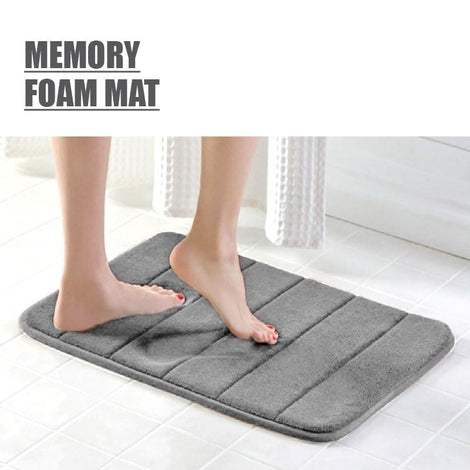 [BUY 1 FREE 1] HOUZE - Memory Foam Mat - Grey - HOUZE - The Homeware Superstore