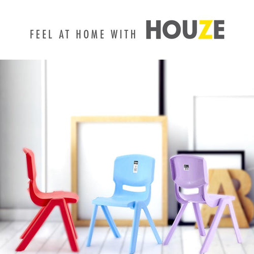 HOUZE - Signature Kids Chair with Backrest (Blue) - HOUZE - The Homeware Superstore
