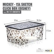[3 For $49] Mickey - 15L Sketch Click Box (Disney) - HOUZE - The Homeware Superstore