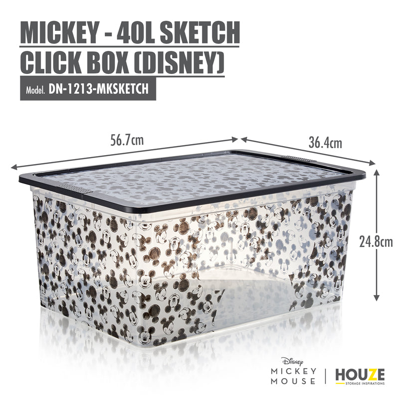 [3 For $99] Mickey - 40L Sketch Click Box (Disney) - HOUZE - The Homeware Superstore