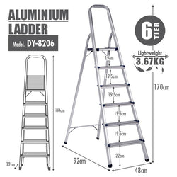 HOUZE - Aluminium 6 Tier Ladder - HOUZE - The Homeware Superstore