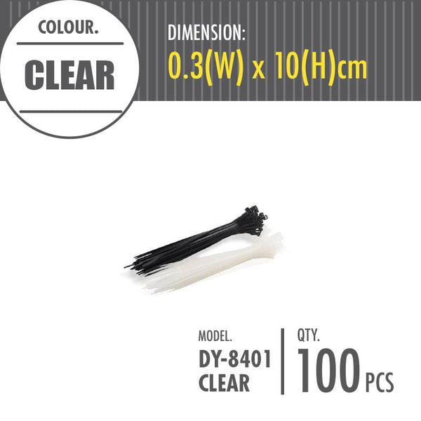 HOUZE - Cable Tie - Clear (Dim: 0.3 x 10cm) - HOUZE - The Homeware Superstore