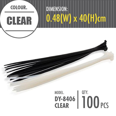 HOUZE - Cable Tie - Clear (Dim: 0.48 x 40cm) - HOUZE - The Homeware Superstore