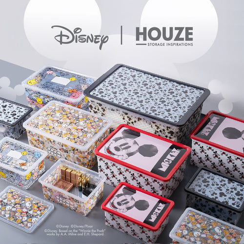 [3 For $99] Tsum Tsum - 40L Line Art Click Box (Disney) - HOUZE - The Homeware Superstore