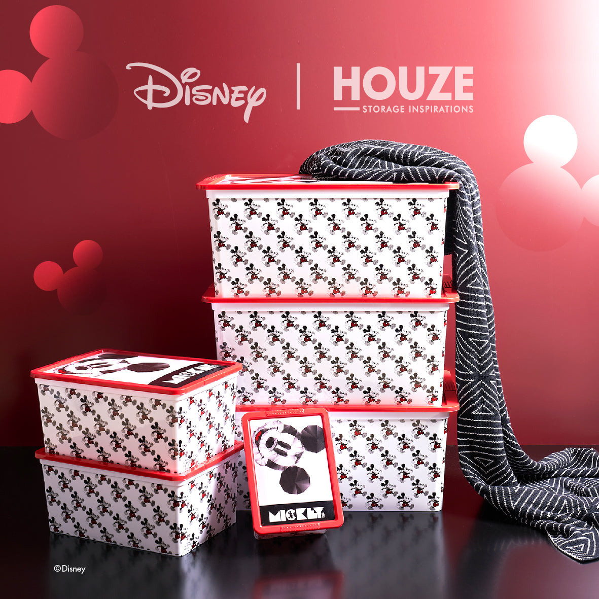 Mickey - 15L Geometric Click Box (Disney)