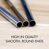 HOUZE - Stainless Steel Straw - Set of 4 (Rose Gold) - HOUZE - The Homeware Superstore