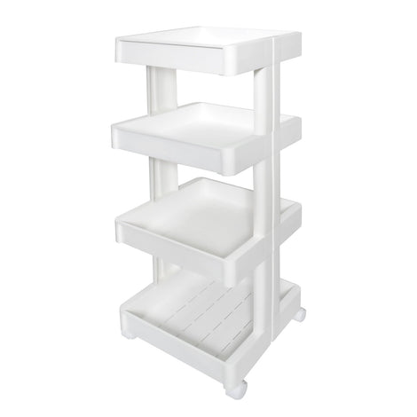 HOUZE - 4 Tier Storage Wagon with Wheels (Wide) - HOUZE - The Homeware Superstore
