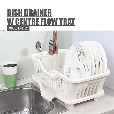 Houze Dish Drainer with Centre Flow Tray