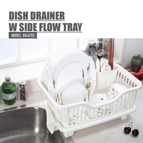 Houze Dish Drainer with Side Flow Tray