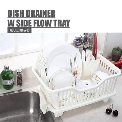 HOUZE - Dish Drainer with Side Flow Tray - HOUZE - The Homeware Superstore