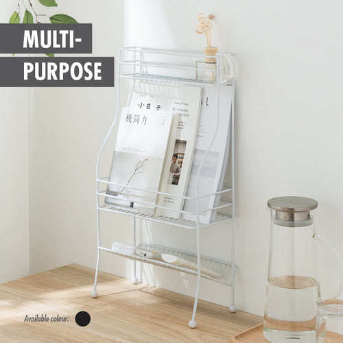 LIL DINERS - 3 TIER STANDING SPICE RACK (BLACK) - HOUZE - The Homeware Superstore