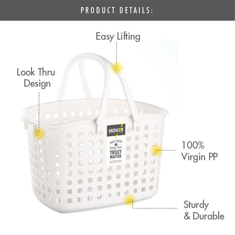 HOUZE Laundry Basket with Handle (Tall)