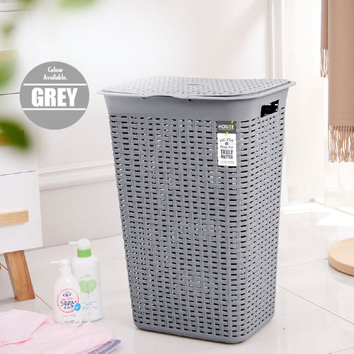 HOUZE - 60L Rattan Tall Laundry Basket (Grey) - HOUZE - The Homeware Superstore
